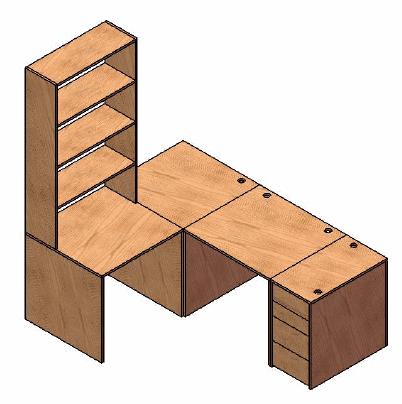 meuble bureau jilks. Black Bedroom Furniture Sets. Home Design Ideas